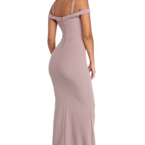 32ac1e3699f Windsor Dresses - Larissa Off the Shoulder Formal Dress